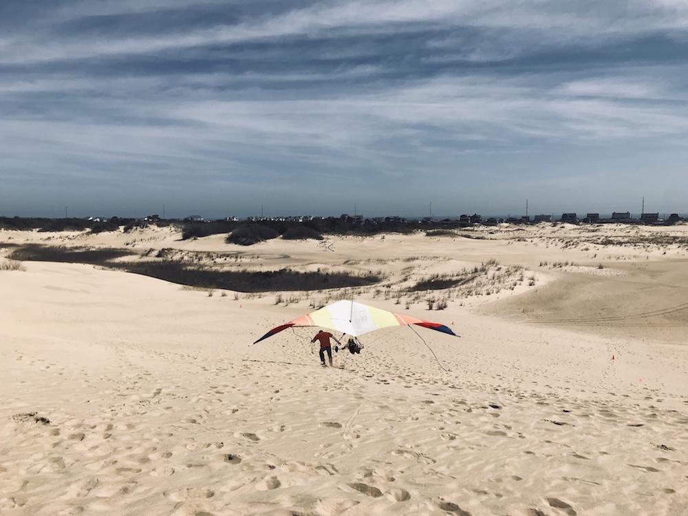 CAPTION: Hang-gliding at Outer Banks, North Carolina. Photo by Dennis Cieri